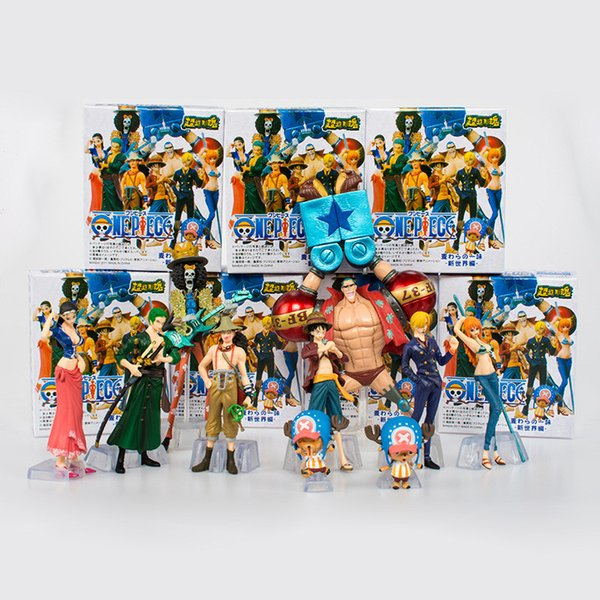 2019 / Set Japanese Anime One Piece Action Figure Collection 2 YEARS LATER  Luffy Nami Roronoa Zoro Hand Done Dolls From Formaldress, $28 59 |