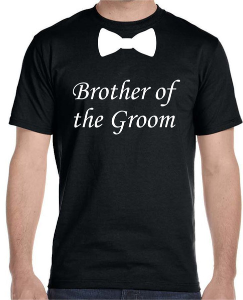 Brother of the Groom Bow Tie, Wedding T-Shirt Youth - Adult Sizes Funny free shipping Unisex Casual