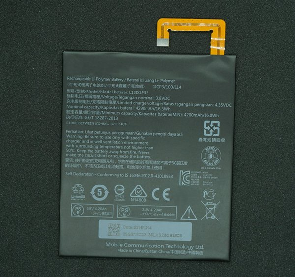 1x 4290mAh 16.3Wh L13D1P32 Replacement Battery For Lenovo Lepad Tab A8-50 A5500 S8-50 TAB 3 Tab3 8 inch TB3-850F TB3-850M