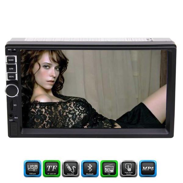Eincar Double 2 Din Auto MP5 Player 7 '' Kapazitiver Multi-Bildschirm In Dash FM-Radio Audio 1080P Video Player Bluetooth / Radio / AV in / Musik