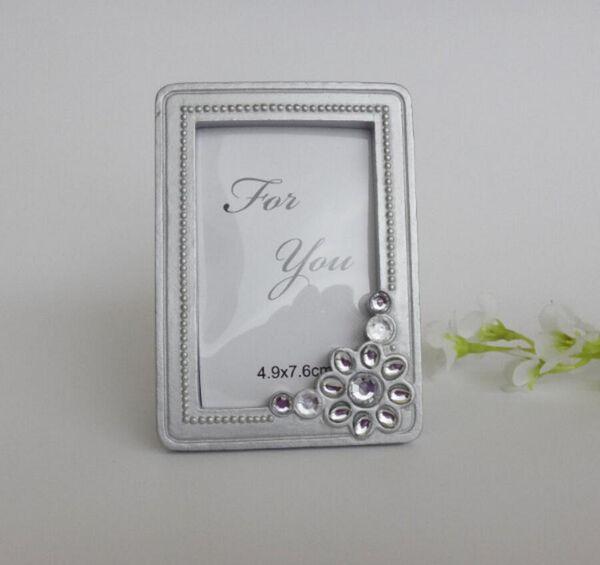 10pcs Mini Silver Rhinestone Photo Frame For Wedding Baby Shower Party Birthday Favor Gift Souvenirs Souvenir