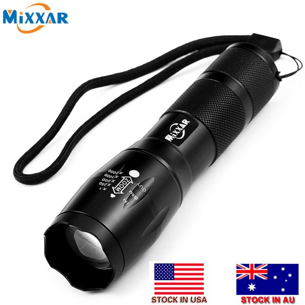 Stock In USA E17 T6 4000LM LED Torches Tactical LED Flashlights 5 Mode Zoomable Torch Light For 18650 or 3xAAA Battery