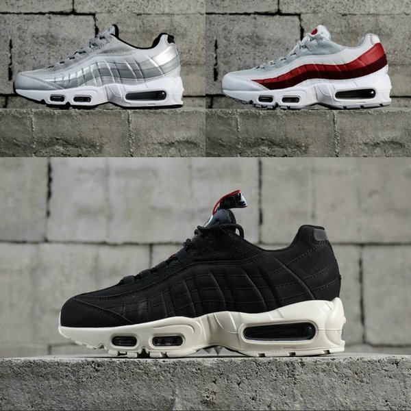 Nike air max 95 OG Şerit Tasarım erkekler Koşu Ayakkabıları Klasik Hafif Siyah Kırmızı Beyaz Yeni Varış Moda Koşucu Sneakers kadınlar için Ücretsiz Kargo