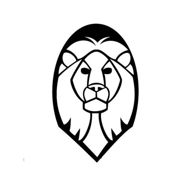 Cara de leão carro adesivo vinil carro embalagem corpo decalque acessórios produto grande animal