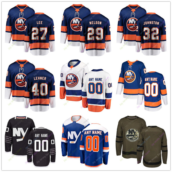 reputable site fe356 2d28f 2018 Anders Lee Brock Nelson Ross Johnston Robin Lehner Jersey 2019 Men  Women Youth Kid Winter Classic New York Islanders C A Patch Salute To Ser  From ...