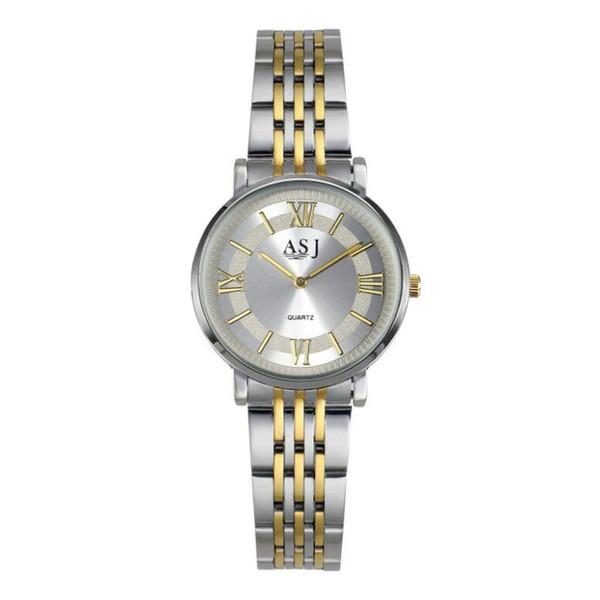 Nueva pareja de venta caliente reloj correa de acero de las mujeres a prueba de agua - DW estilo de fondo delgado reloj de cuarzo de estilo casual al por mayor y al por menor