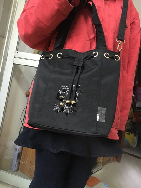 2018 New Classic logotipo lantejoulas saco de Lantejoulas Sacos de lantejoulas padrão clássico Tote Com cinta coleções famosas item com tag tamanho perfeito-Anita