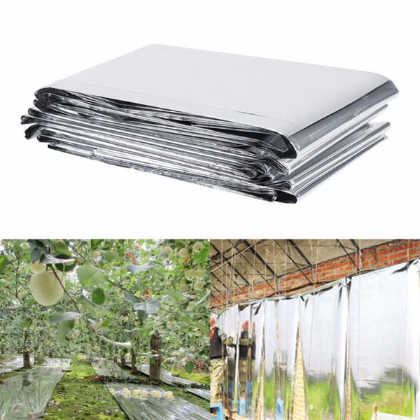 1 Stück 210x120 cm Silber Pflanze Reflektierende Film Garten Gewächshaus Wachsen Licht Sun Reflektierende Garten Zubehör
