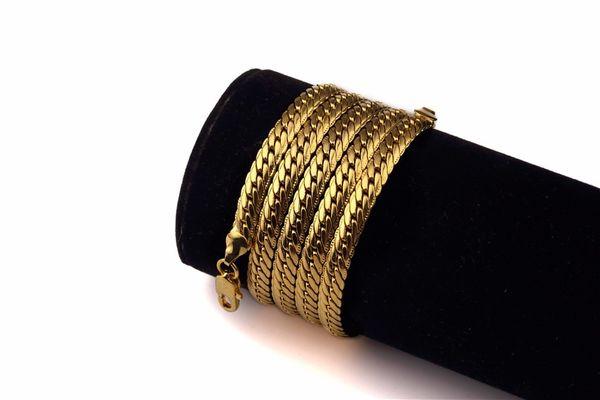 Arbeiten Sie goldene lange Spitze geprägte kupferne Kette Bling Bling Ketten 75cm Hip Hopfen-berühmter Stern-Rock populär um