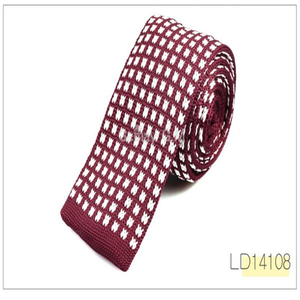 Fashion Men Knitted Narrow Necktie Forward Type Polyester Stripe Geometric Pattern Ties Shirt Accessories Fit Formal Party 8 5gm ff