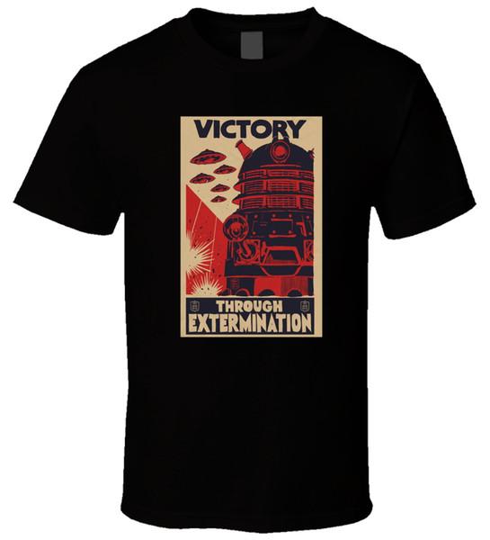 Vendita calda Nuova moda estate T-shirt da uomo Doctor Who - Stereotipo da uomo a manica corta da uomo Dalek Exterminate
