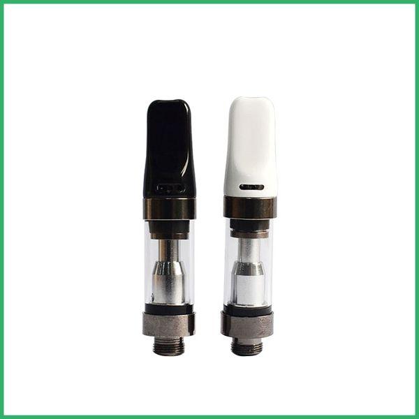 OEM Custom Logo Ceramic Wickless Vape Pen Glass Cartridge Adjustable Top  Air Flow 510 Thread CE3 Atomizer Thick Oil Dual Coil Tank Vaporizer Nasal
