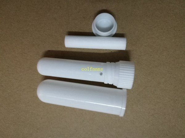 2000sets/lot brand new white color blank nasal inhaler sticks, sterile portable nasal inhaler tube, plastic inhalers