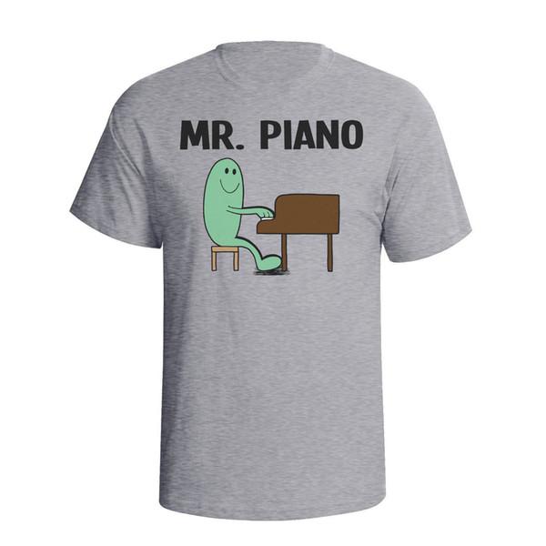 Mr Piano Mens пианист инструмент футболка день рождения Рождественский подарок смешной подарок с коротким рукавом футболки топы шею тройники