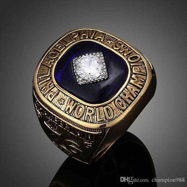 Joyería de gama alta europea y americana. Anillo de campeonato de playoffs de baloncesto de Filadelfia 1967.