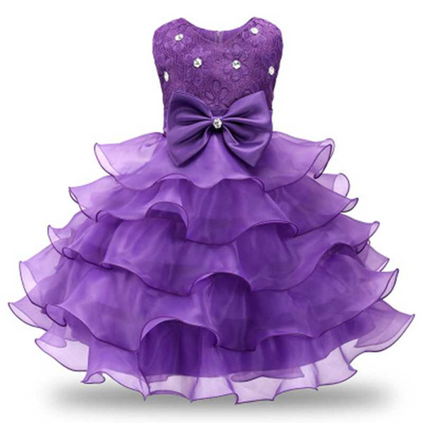 Wedding Ceremony Costume Prom Dress For Little Girl 3-8 Years Pleated Dress Teenage Girls Dinner Outfits Formal Occasion Wear