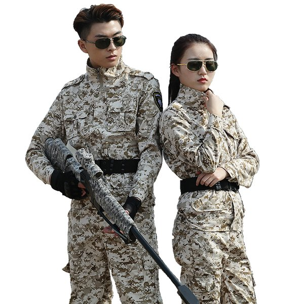 Hunting Clothing Camouflage Army Tactical Suit Security Uniform Combat Mountaineering Fishing Windproof Outdoor Suit