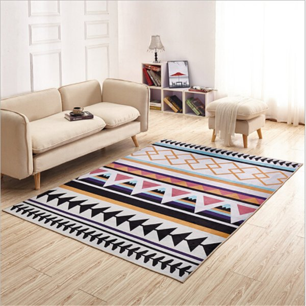 Nordic Hot Sale Delicate Polyester Carpets For Living Room Bedroom