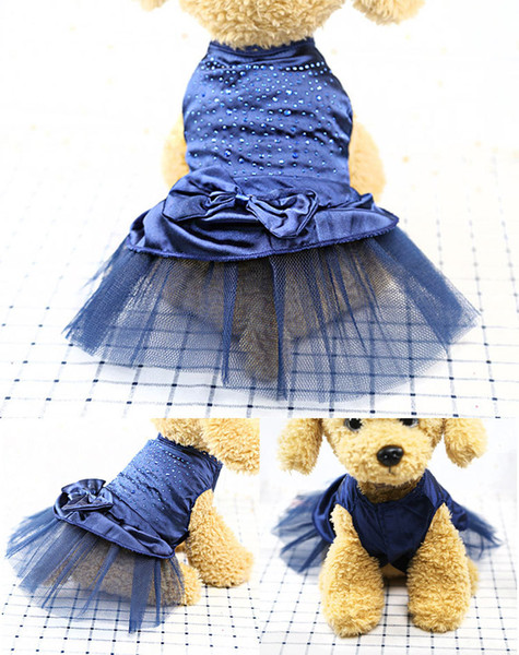Dog Dresses Medium Pink Apparel for Small Dogs Wedding Yellow Chihuahua Wholesaling Pet Dress 1year Girl Baby
