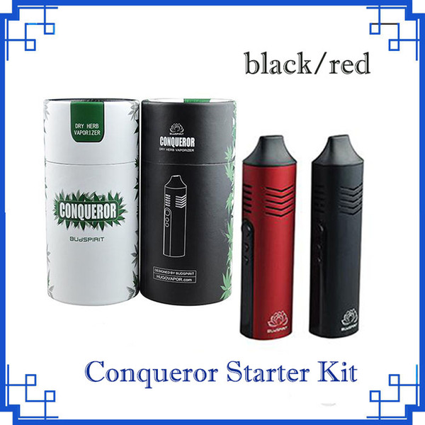 2018 Conqueror Dry Herb Vaporizer Starter Kit vape pen e cigarette 2200mah battery capacity with OLED Screen elite by DHL