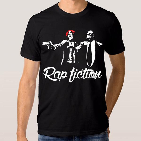 Shakur y Biggie Rap Fiction camiseta Nueva camiseta de algodón S - 3xl Camisetas estampadas Hipster de manga corta Tee Hipster