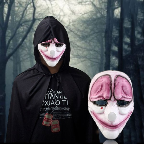 Funny For Wolf Red Face Mask Halloween Cosplay Prop Mask Flags Doom Game Harvest Day Horror Resin Masks