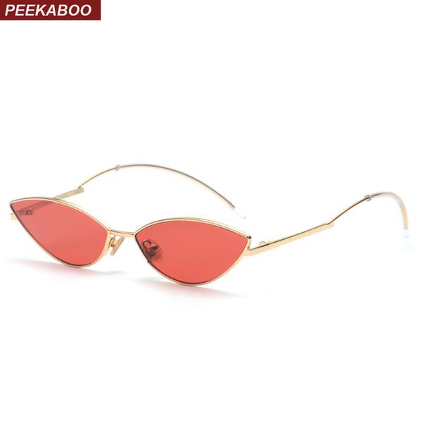 597034a44 Peekaboo bonito sexy retro cat eye sunglasses mulheres pequeno preto 2018  red cat eye óculos de