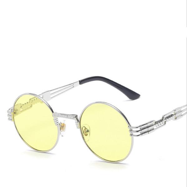 Marco plateado / lente amarilla