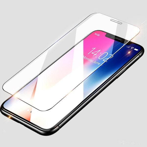 For 2018 new iphone 9 9Plus X XS Plus 3 size 5.8inch 6.1inch 6.5inch Tempered glass screen protector with box Excat Size Date