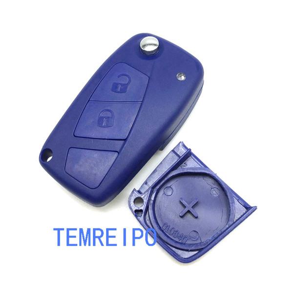 2 button Flip Remote Key Shell For Fiat Punto Ducato Stilo Panda Idea Doblo Bravo Keyless Fob Case Car Alarm Cover Housing