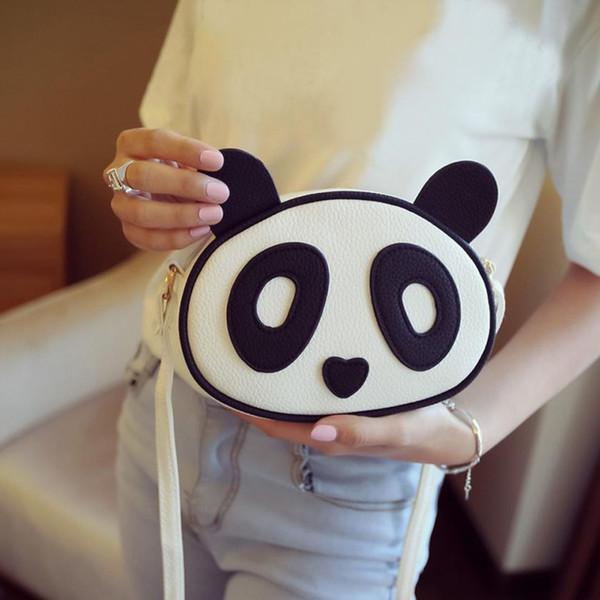 MOLAVE Omuz Çantası yeni yüksek kalite Deri Çocuk Moda Sevimli Panda Çanta kadın omuz çantaları crossbody çanta feb13