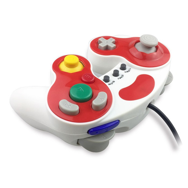 Gaming Dekoration.Großhandel Wired Gamepad Gamecube Controller Für Ngc Konsole Wii Game Cube 3 Analog Stick Vibration Gaming Turbo Slow Start Dekoration Von