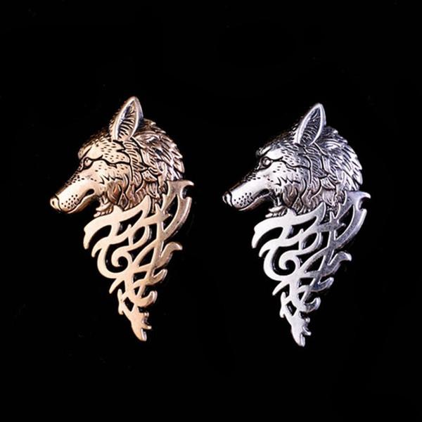 Spilla a testa di lupo Spilla Spilla da uomo vintage Collare Spille Badge Game of Thrones Souvenir Lupo Totem Uomini Animali affascinanti Spille