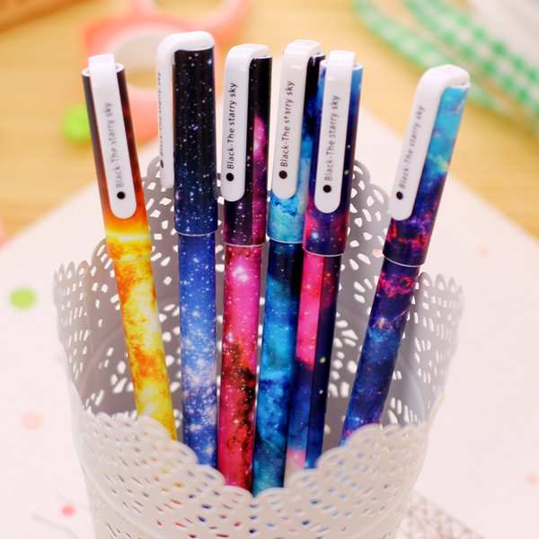(1pcs/sell) Starry Sky Gel Pen Set Key Kawaii School Supplies Office Stationary Photo Album Kawaii Pens School Stationery