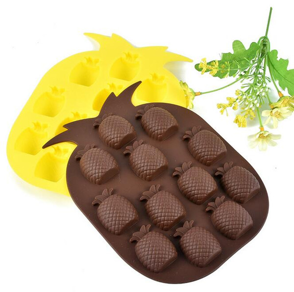 100pcs Ice Cream Tools Brand New Ice Maker Mould Bar Party Drink Tray Pineapple Shape Ice Cube Freeze Mold free shipping
