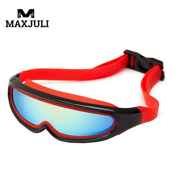 MAXJULI Hot Shield Style Anti Fog Kids Swimming Goggles Outdoor Adjustable Children Eyeglasses For Girl /Boy Swim Glasses JL336A