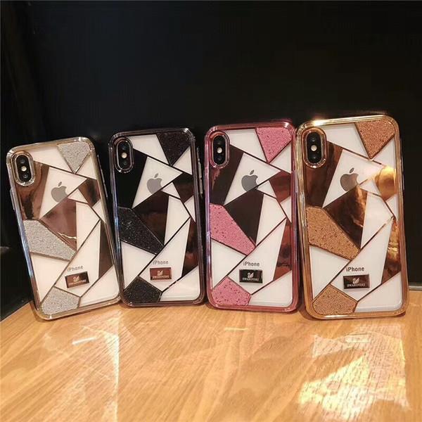 Große Marke bereifte Metalltelefonkasten für iphone6 6S 7 7plus Fall für iphone 8 8plus iphone X harte Schale rückseitige Abdeckung