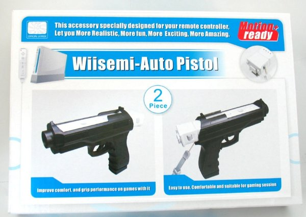 2 Pcs Pistol Shooting Light Gun Sport Video For Wii Remote Controller Game Without Remote & Nunchuck