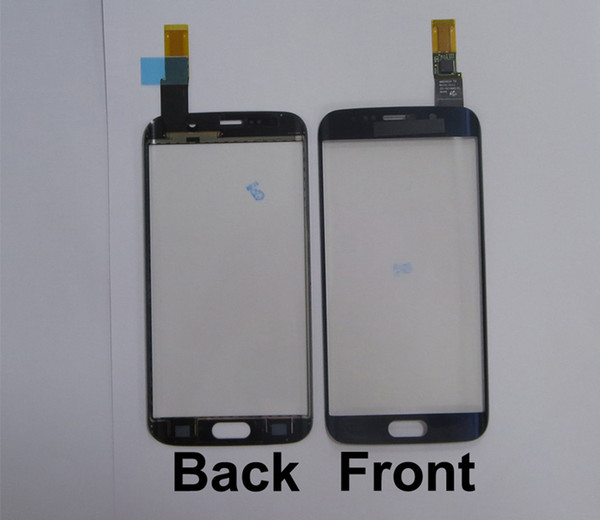 1pcs 100% Tested Good Front Glass with Touch Screen Flex Cable for S6 edge G925 / S6 edge plus/S7 edge G935 White/Black