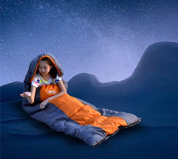 Desert&Fox Spring Cotton Sleeping Bag Envelope 3 Season Single Thermal Thickening Ultralight Outdoor Camping Sleeping Bag