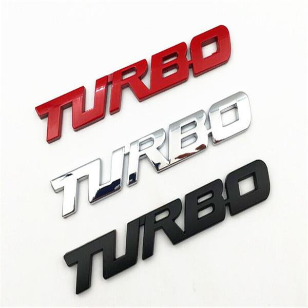 1 piece Car Sticker 3D Auto Turbo Logo Truck Fender Body Silver / Red Metal Emblem Sticker For A4 Q5