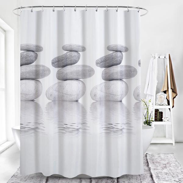 Acquista Set Bagno Tenda Da Doccia Design Moderno Impermeabile Tessuto  Tenda Da Doccia Poliestere Resistente All\'acqua Resistente Alle Macchie Il  ...