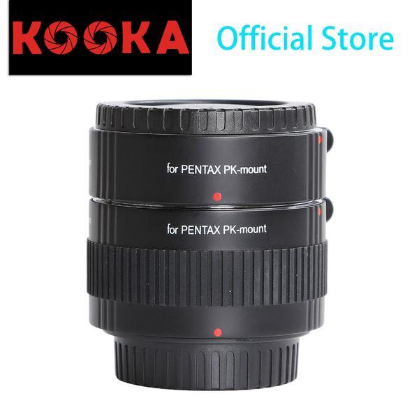 KOOKA KK-P56 Copper Macro Extension Tube Set Auto Focus Close-up Image with TTL Exposure for Pentax K-01 SLR Cameras (20mm 36mm)