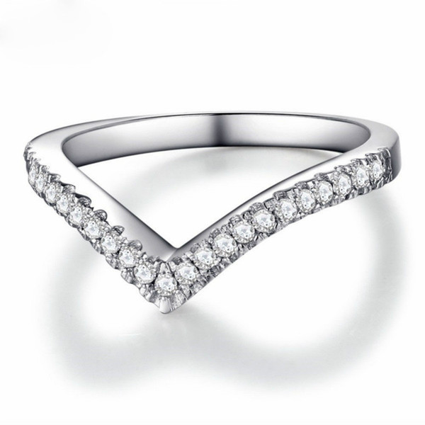 925 Sterling Silver Heart Shaped Zircon Female Ring Korean Style Silver Ring Fashion Jewelry Love Heart