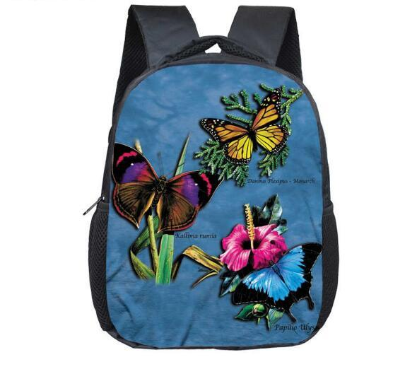 12inch infants child printing Bag Cute animals Backpack for Toddler Boys & Girl butterfly kindergarten nursery schoolbag cute