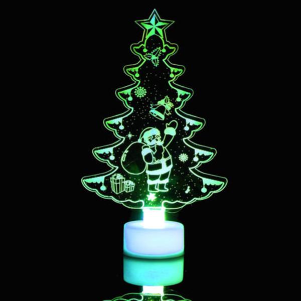 Kreative Bunte Weihnachtsbaum LED Nachtlicht Farbwechsel LED Licht Lampe Dekorative Wandleuchte Wohnkultur NEUE