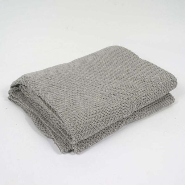 Cotton Grey Knitted Throw Blanket for Bed Baby Sleeping Wrap Thread Blanket  Sofa Plaid Koc Mantas Comforter