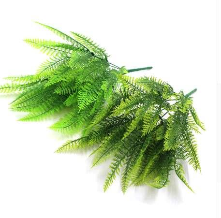 33cm Persian Grass Artificial Leaves Green Plants Artificial Garden Home Decor Autumn Decoration Artificial Grass Plant