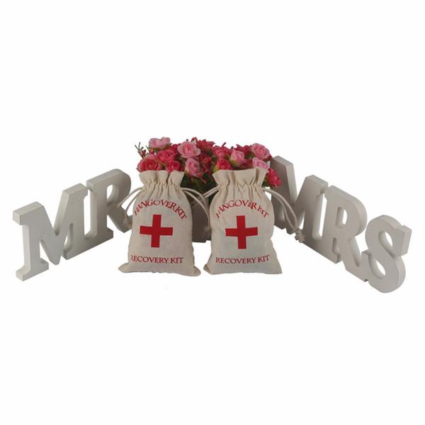 Kater Kit 10x14cm Hochzeit Gunsten Inhaber Tasche Rotes Kreuz Baumwolle Leinen Taschen Recovery Survival Kit DDA434