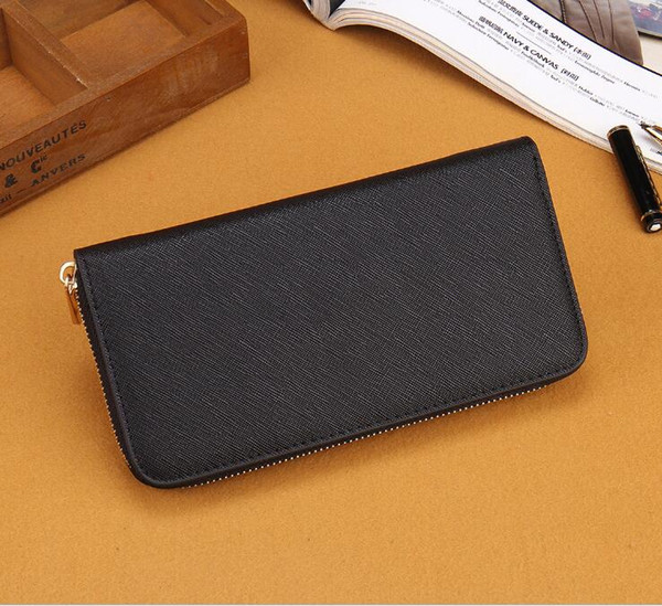 Hot Sale 2018 famous brand fashion single zipper cheap luxury designer women pu wallet lady ladies long purse